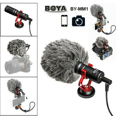 BOYA BY-MM1 Portable Cardioid Condenser Microphone with Windsheid for Camcorder