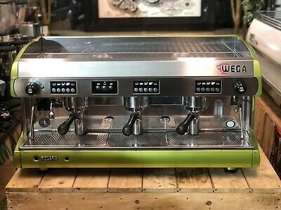 Wega Polaris 3 Group Metallic Green Espresso Coffee Machine Cafe Restaurant Bean