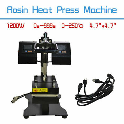 Rosin Heat Press Machine Dual Heating Elements Swing-Arm Manual TOP
