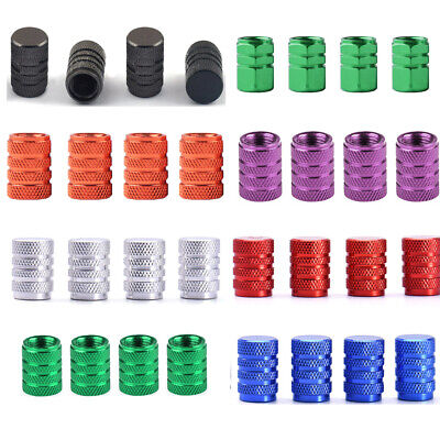 4pcs Wheel Tyre Tire Valve Stem Air Dust Cover Screw Cap Car Truck Bike 7 colors