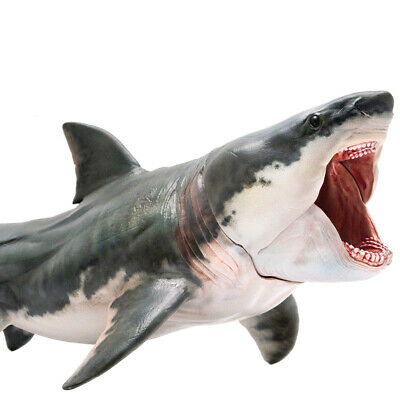 PNSO Megalodon Model Action Shark Figure Ocean Animal Toy Collector Decoration