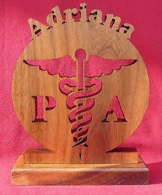 PERSONALIZED with name, Physician Assistant Symbol, Desk Plate, Name Plate