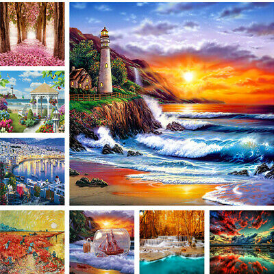 DIY Paint By Number Kit Digital Oil Painting Art Wall Home Decor Natural Scenery