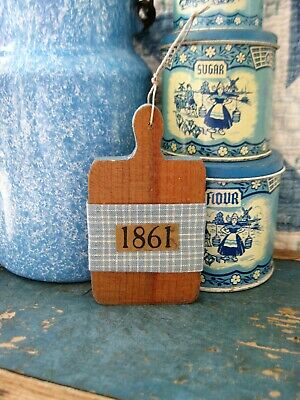 Tiny Antique Toy Bread Board from a German Box Kitchen Free Shipping