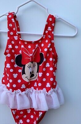 7c69f2a84 MINNIE MOUSE-GIRLS-SIZE 3- 6 Months-Polka Dot-Tutu-1 Pc-Swimsuit ...
