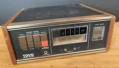 Vintage TOYO CHR-335 8-track Stereo recorder / Tested working