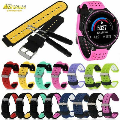 Silicone Replacement Wrist Band Strap For Garmin Forerunner 220 230 235 620 630