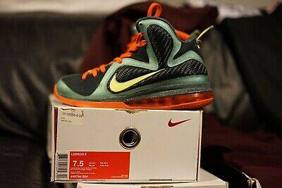finest selection 46023 0b5a7 Nike Lebron IX 9 Cannon Sz 7.5 Cannon Volt Slate Blue Orange 2011 VNDS Yeezy