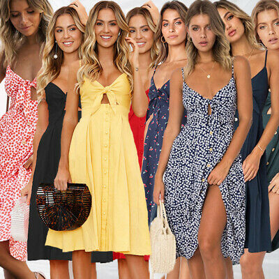 Womens Sexy Clubwear Backless Bow Bandage Dress Summer Cocktail Prom Party Dress