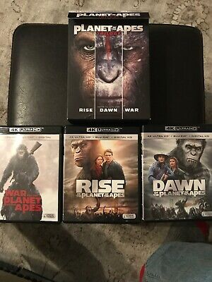 Planet Of The Apes Trilogy 4K Ultra Hd Disc, Case , And Art Work Inc ,Slip MINT