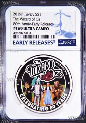 2019 THE WIZARD OF OZ 80th Anniversary Proof $1 1oz Silver COIN NGC PF 69 ER
