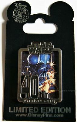 DISNEY WORLD STAR WARS 40th ANNIVERSARY CAST MEMBER EXCL A NEW HOPE PIN LE 1000