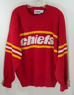 0ce56a5c VINTAGE 80'S KANSAS City Chiefs Sweater Made In USA Sz Small ...