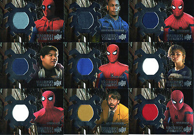 2017 Spider-Man Homecoming Webbed Threads Costume Memorbilia WTS Set of 14 Cards