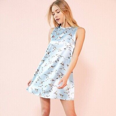 228b969dcd1 Kimchi Blue Urban Outfitters Floral Sleeveless Shift Dress Large L