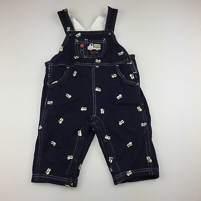 Boys size 00, Baby World, navy overalls / dungarees, truck, GUC