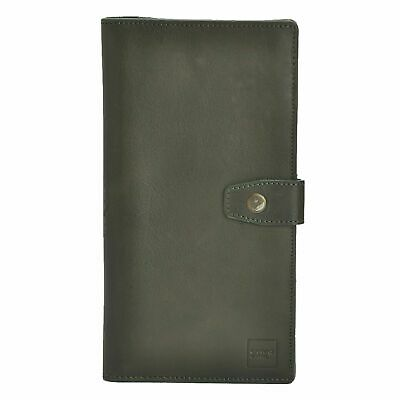NEW Unisex Green Premium Leather Travel Wallet Credit Card Holder Passport Cover