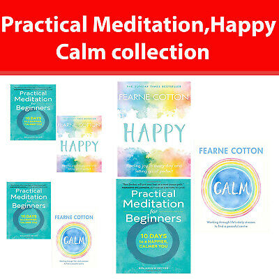 Practical Meditation for Beginners collection Happy, Calm books set NEW