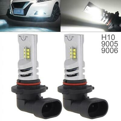 9005 9006 12v 2pcs White Ice Blue Blue Ice Yellow Chip Dual Color Led Fog Driving Lamp Light Bulb Auto Running Headlamp Lamps Shrink-Proof Automobiles & Motorcycles