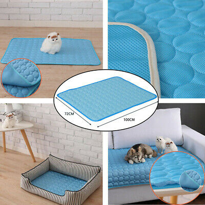 Ice Silk Mat Pet Summer Cooling Cushion Pad Cat Dogs Bed Floor Nest Breathable
