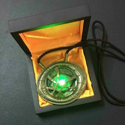 Dr Doctor Strange 1:1 H-Q Light Pendant Eye Of Agamotto Necklace Prop Collection