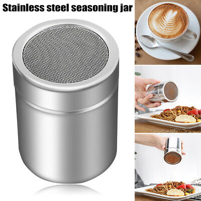Chocolate Shaker Lid Stainless Steel Icing Sugar Flour Cocoa Coffee Sifter