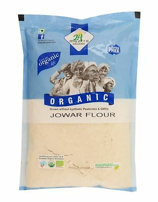 Jowar (Sorghum) Flour 500gm,24 Mantra Organic With Calcium,Protein Better Test