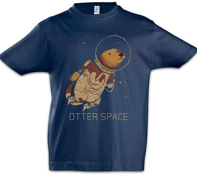 Otter Space Kids Boys T-Shirt Love Addicted Astronaut Fun Planet Planets
