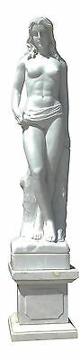 Scultura Marmo Bianco Statua Donna Statue Marble Sculpture Arts Antiques H.150