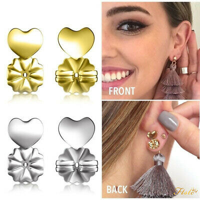 4 Pcs Magic Bax Earring Backs Lifter Support Lifts Hypoallergenic Sliver Gold