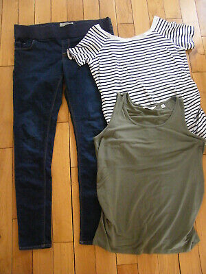 Maternity Clothing Bundle Size 16 Topshop Leigh Jeans 2 Summer Tops Sz 16 L34 Vg