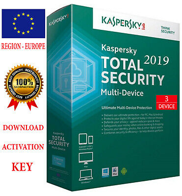 KASPERSKY TOTAL Security 2019 3 Device / 1 Year / REGION - EUROPE  15.25$