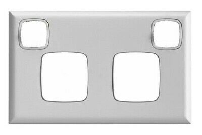 8x HPM EXCEL DOUBLE POWERPOINT COVER PLATES Horizontal Clip On, High Gloss White