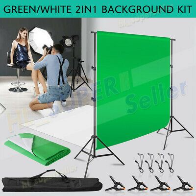 Photography Video Black White Backdrop+Stand Kit Photo Studio Background Support