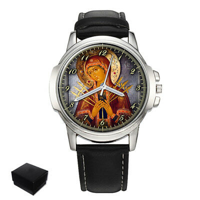 Russian Orthodox Icon Mother Of God Mens Wrist Watch Christmas Gift Engraving