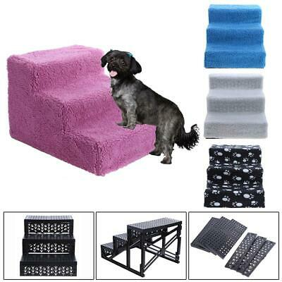 Dog/Puppy/Cat 3 Steps Pet Stairs Ladder Ramp Car/Sofa/Bed Washable Soft Cover