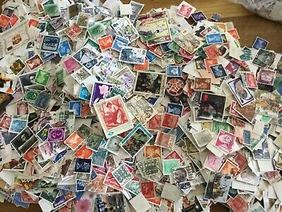 100 WORLD STAMPS, OFF PAPER, vintage, old/new, franked multi discount free post
