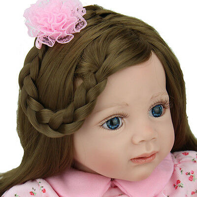 Newborn Toddler kids gift Reborn Baby Doll Long hair Girl Likelife Baby Toy 24""