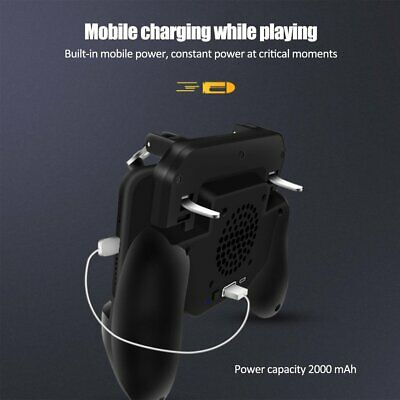 Mobile Phone Game Controller Joystick Cooling Fan Gamepad for PUBG Android/IOS U