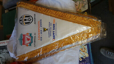 Gagliardetto Pennant Liverpool Juventus Champions League 2004/05