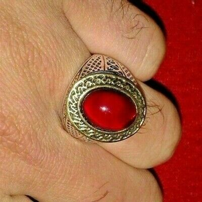 Rare Ancient Solid Ring Roman Silver Stunning Artifact vintage with stone