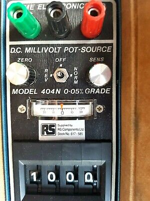 Time Electronic 1007 DC Millivolt Potentiometer & Calibrator with carry case