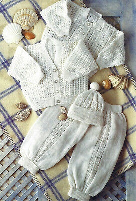 DOLL PREMATURE BABY 4 CARDIGANS  KNITTING PATTERN 12//22 INCH 1114