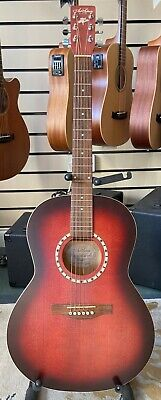 Art & Lutherie Folk Spruce Acoustic, Burgundy, Made In Canada, New