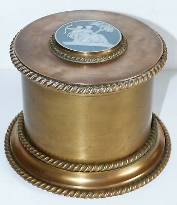 RARE Antique Late 19th Century Brass 4 Glass Scent Bottles Casket / Box – Cameo