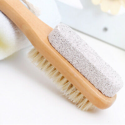 Foot Brush & Pumice Stone With Handle - Callus & Corn Remover