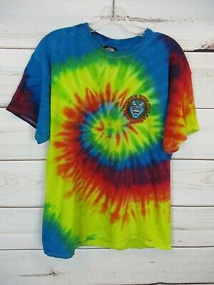 Santa Cruz Speed Wheels Skate Boarding Skater Tie Dye T-Shirt Men's Large