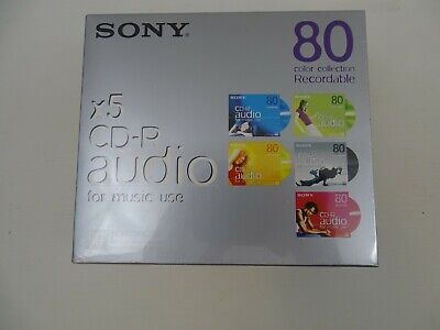 Sony CD-R Audio for Music Use Recordable CD 5 Discs New & Sealed