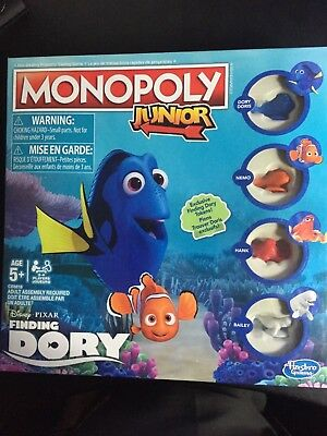 Hasbro Monopoly Junior: Disney/Pixar Finding Dory. New and sealed.