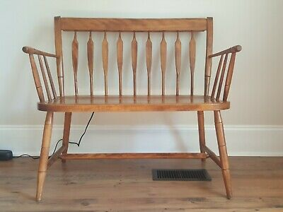 Enjoyable Vintage Nichols And Stone Wooden Captains Chair Claw Arms Short Links Chair Design For Home Short Linksinfo